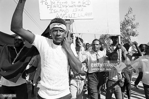 Uprising Of The People Of Anguilla Island In The Caribbean For Independence Anguilla mars 1969 après un second référendum organisé en janvier par le...