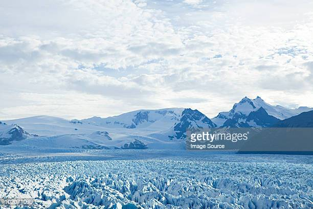 Upsala glacier at el calafate in southern argentina