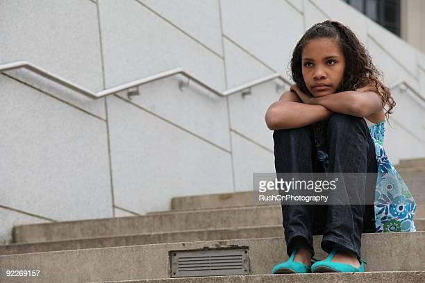 Verärgert Junge Mädchen