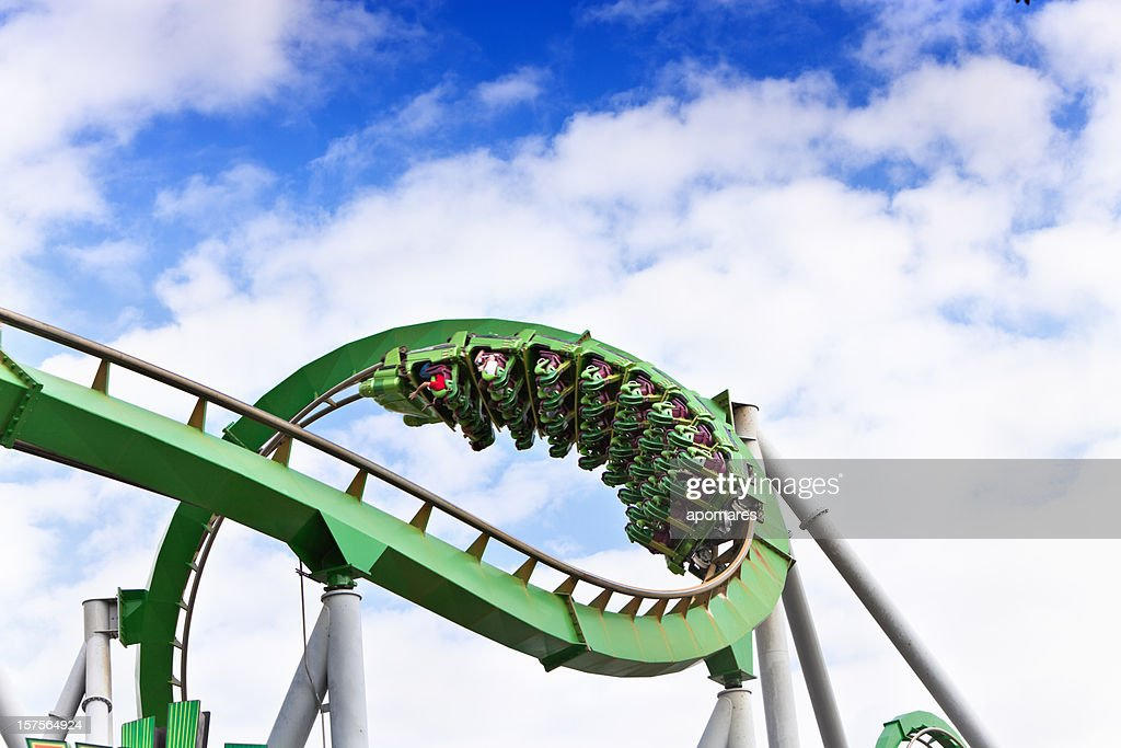 Upside down on a rollercoaster