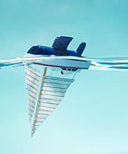 Upside down sailboat
