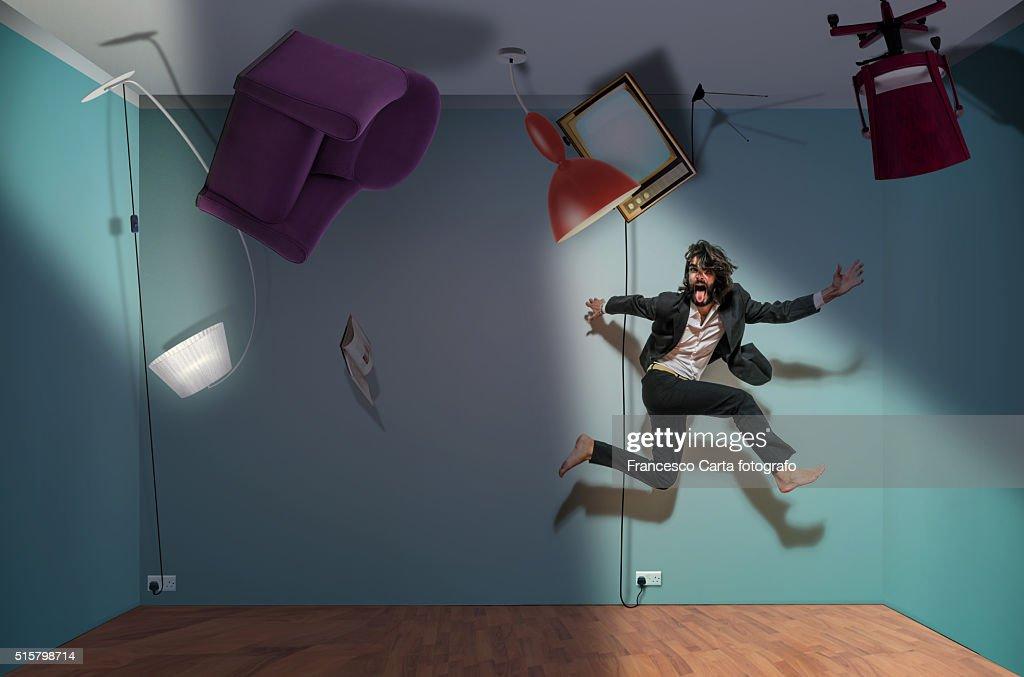 Upside-down room