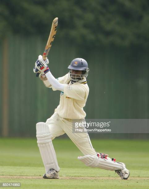 Upul Tharanga of Sri Lanka batting during his innings of 100 runs in the tour match between British Universities and Sri Lankans at Fenners Cambridge...