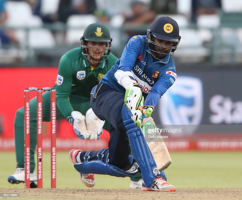 Upul Tharanga of Sri Lanka during the 4th ODI between South Africa and Sri Lanka at PPC Newlands on February 07, 2017 in Cape Town, South Africa.