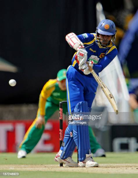 Upul Tharanga of Sri Lanka in action during the 3rd One Day International match between South Africa and Sri Lanka at Chevrolet Park on January 17...