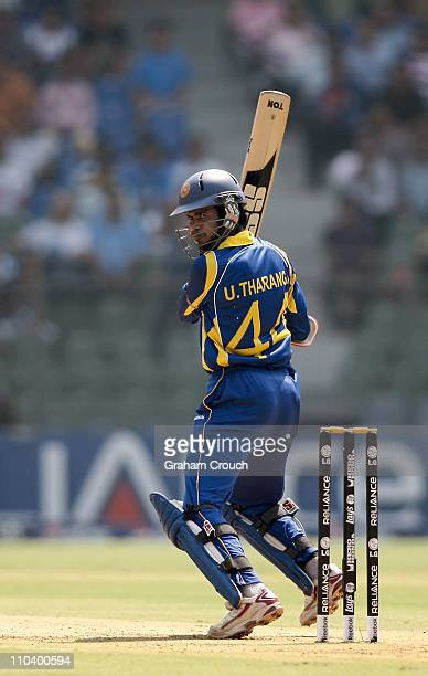 Upul Tharanga of Sri Lanka in action during the Group A ICC World Cup match between New Zealand and Sri Lanka at Wankhede Stadium on March 18 2011 in...