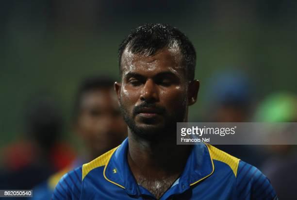 Upul Tharanga of Sri Lanka looks dejected after losing the second One Day International match between Pakistan and Sri Lanka at Zayed Cricket Stadium...