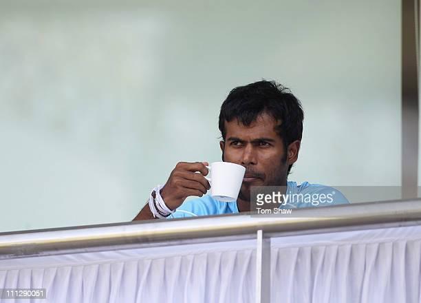Upul Tharanga of Sri Lanka looks on during the Sri Lanka nets session at the Wankhede Stadium on March 31 2011 in Mumbai India
