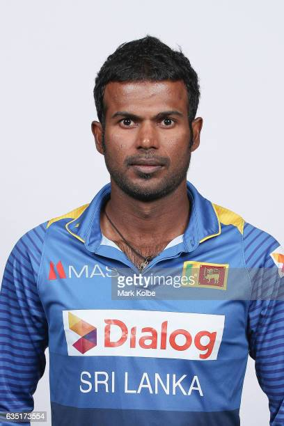 Upul Tharanga of Sri Lanka poses during a Sri Lanka headshots session at the Realm Hotel on February 14 2017 in Canberra Australia