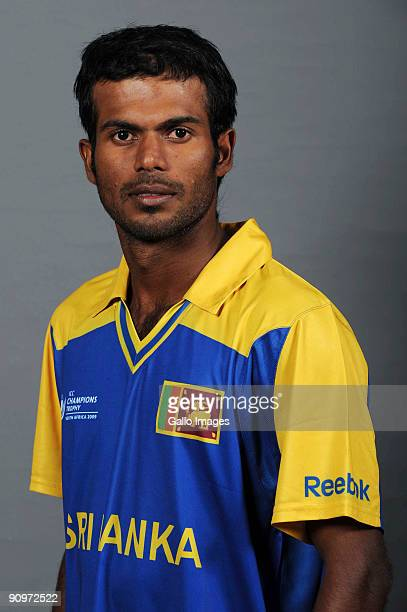 Upul Tharanga poses during the ICC Champions photocall session of Sri Lanka at Sandton Sun on September 19 2009 in Sandton South Africa