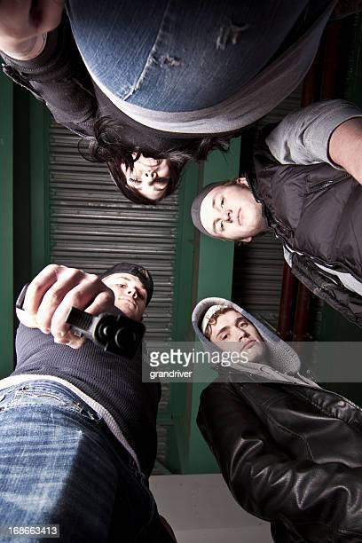 Upward View of Gang