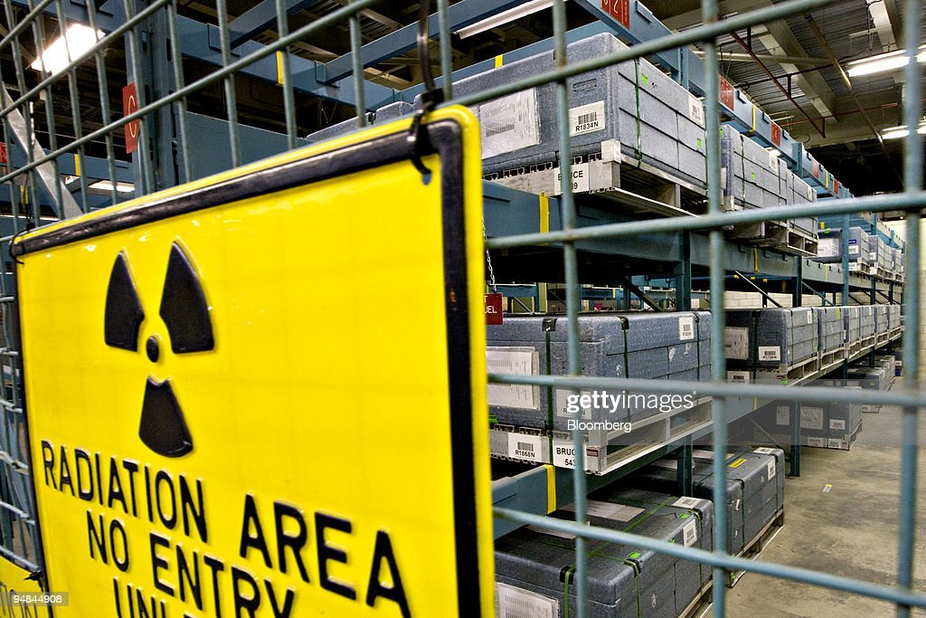 Uranium fuel rods are stored in traveling cases behind a closedoff area of the Bruce B nuclear power plant in Tiverton Ontario Canada on Monday April...