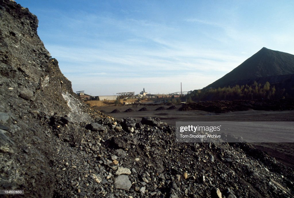 Uranium waste from a mine at Beerwalde East Germany 1st January 1991
