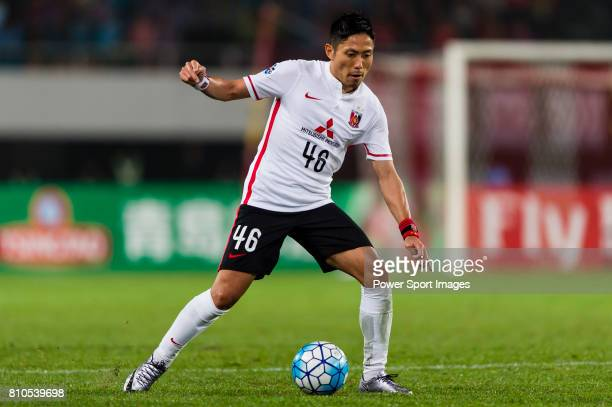Urawa Red Diamonds defender Moriwaki Ryota in action the AFC Champions League 2016 Group Stage Match Day 3 between Guangzhou Evergrande VS Urawa Red...