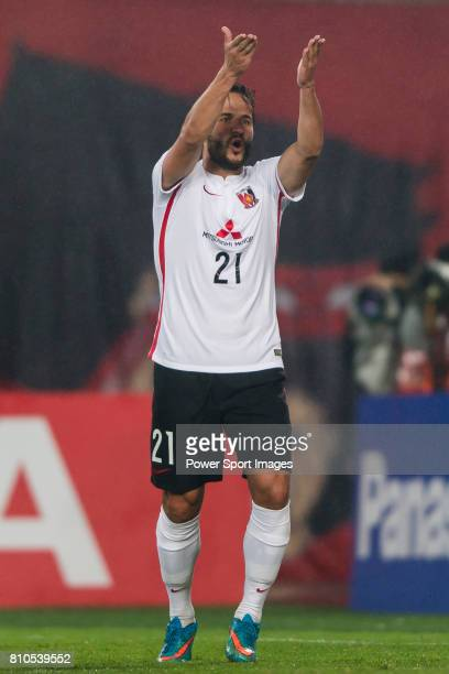 Urawa Red Diamonds forward Zlatan Ljubijankic reacts during the AFC Champions League 2016 Group Stage Match Day 3 between Guangzhou Evergrande VS...