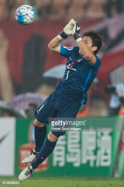 Urawa Red Diamonds goalkeeper Nishikawa Shusaku in action during the AFC Champions League 2016 Group Stage Match Day 3 between Guangzhou Evergrande...