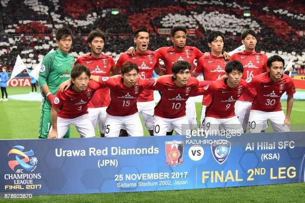 Urawa Red Diamonds' goalkeeper Shusaku Nishikawa midfielder Yuki Abe defender Tomoaki Makino forward Rafael Da Silva defender Wataru Endo midfielder...