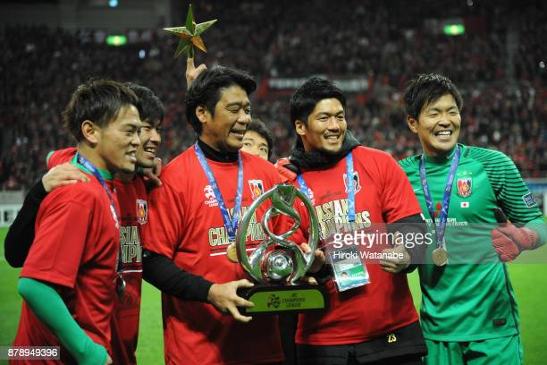Urawa Red Diamonds players celebrate after their 10 victory and becoming the Asian Champions after the AFC Champions League Final second leg match...