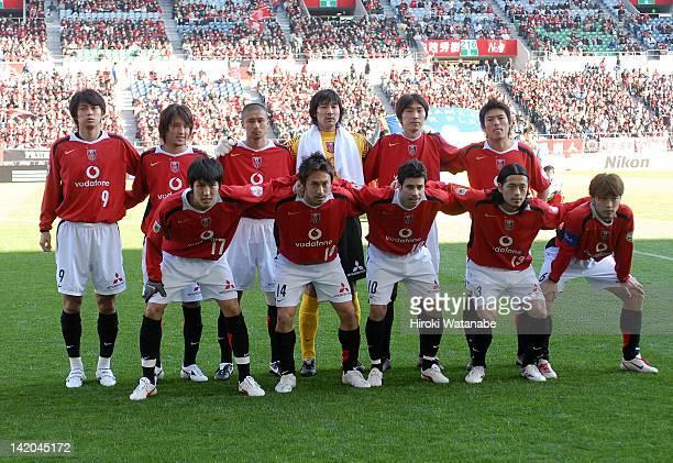 Urawa Red Diamonds players Makoto Hasebe Tadaaki Hirakawa Robson Ponte Keita Suzuki and Nobuhisa Yamada Yuichiro Nogai Hajime Hosogai Keisuke Tsuboi...