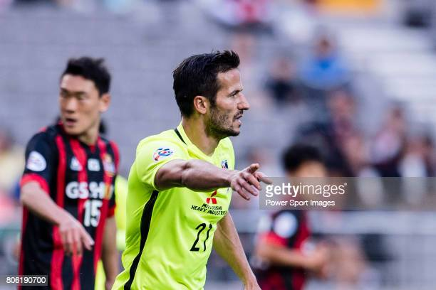Urawa Reds Forward Zlatan Ljubijankic gestures during the AFC Champions League 2017 Group F match between FC Seoul vs Urawa Red Diamonds at the Seoul...