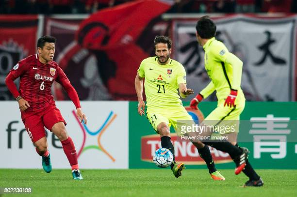 Urawa Reds Forward Zlatan Ljubijankic in action during the AFC Champions League 2017 Group F match between Shanghai SIPG FC vs Urawa Red Diamonds at...