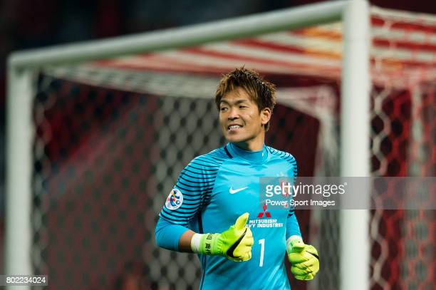 Urawa Reds Goalkeeper Nishikawa Shusaku in action during the AFC Champions League 2017 Group F match between Shanghai SIPG FC vs Urawa Red Diamonds...