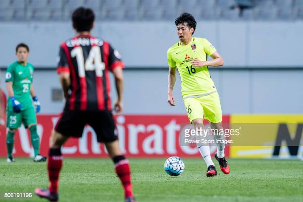 Urawa Reds Midfielder Aoki Takuya in action during the AFC Champions League 2017 Group F match between FC Seoul vs Urawa Red Diamonds at the Seoul...