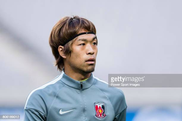 Urawa Reds Midfielder Komai Yoshiaki warming up during the AFC Champions League 2017 Group F match between FC Seoul vs Urawa Red Diamonds at the...