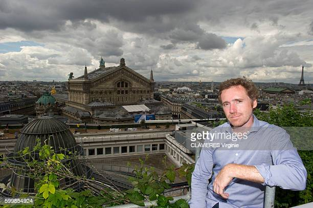 Urban agriculture on the roofs of Paris on August 1st 2016 A garden of 1000 m ² grew on the roof and the facade of Galleries Lafayette it produces...