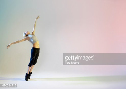 urban ballet dancer in graceful pose