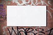 Urban billboard on wall