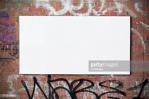 Urban billboard on wall