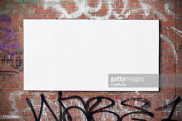 Urban Plakat an der Wand