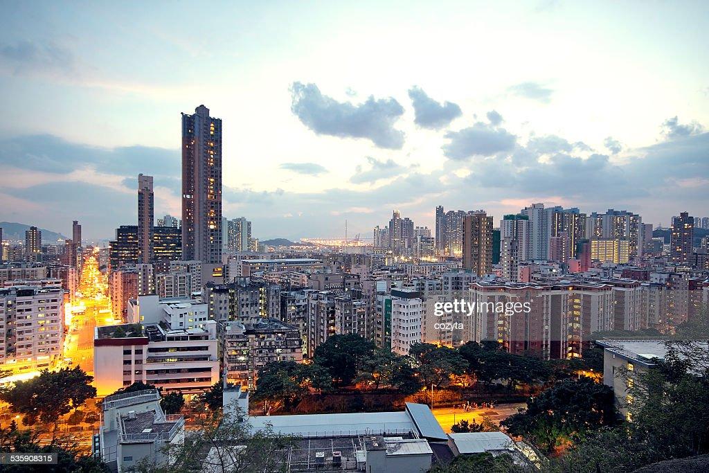 Urban city sunset : Stock Photo