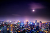 urban city view of cityscape on night view,lanscape photo