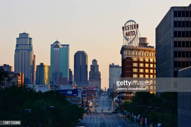Urban cityscape at sunrise