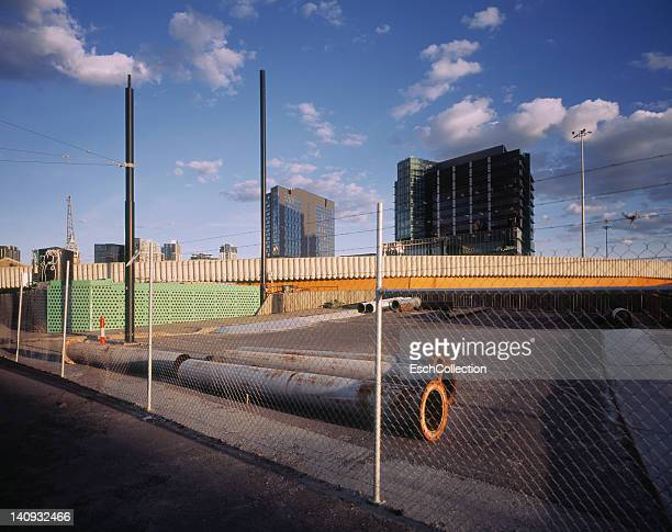 Urban development area at Docklands in Melbourne