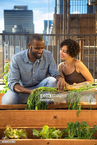 Urban Gardening Couple