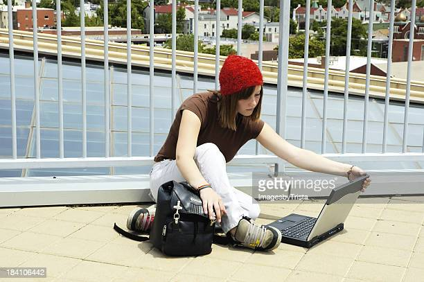 Urban Girl with Laptop