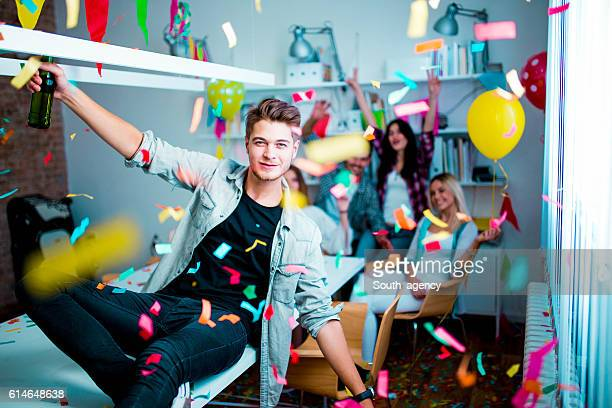 Urban guy on a birthday party