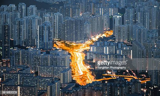 Urban highway in Hong Kong