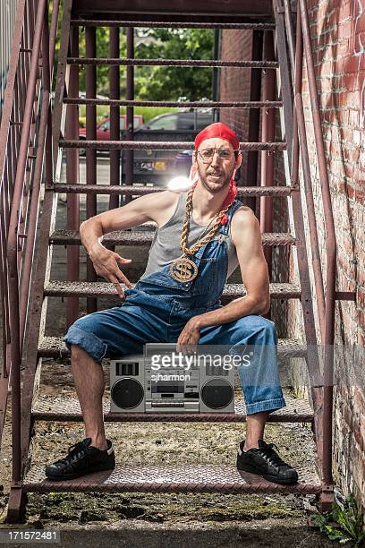 Urban Hip Hop Man From the 1990s with Ghetto Blaster