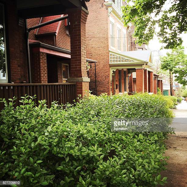 Urban Houses in Pittsburgh Neighborhood