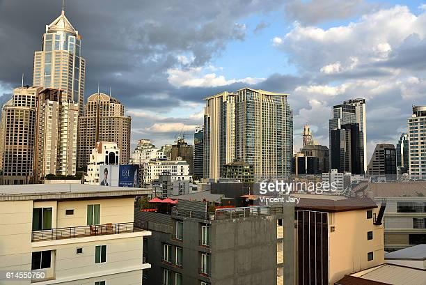 Urban landscape of Bangkok city center, Thailand, Asia