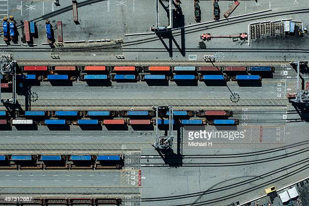 urban landscape with containers and industry