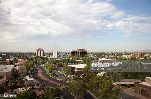 Urban Mesa Arizona Aerial View of City Skyline