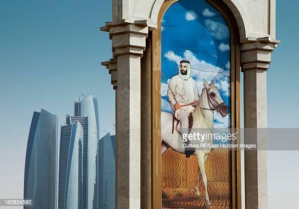 Urban mural of man on horseback