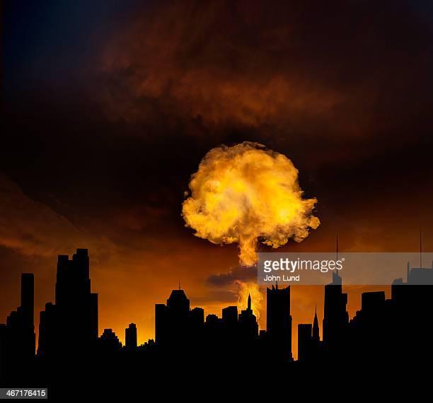 Urban Mushroom Cloud Explosion