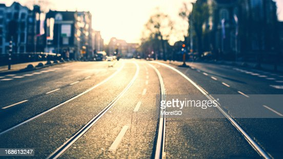 Urban Road in Amsterdam