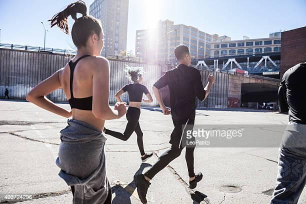 Urban Läufer fit zu bleiben. Die Nutzung ist kostenfrei in DUMBO-New York